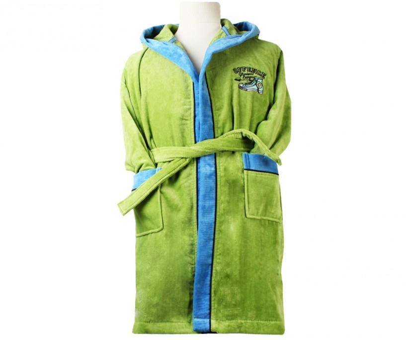 Халат Детский на (3-4 года) Organik Offence Yeşil ecocotton