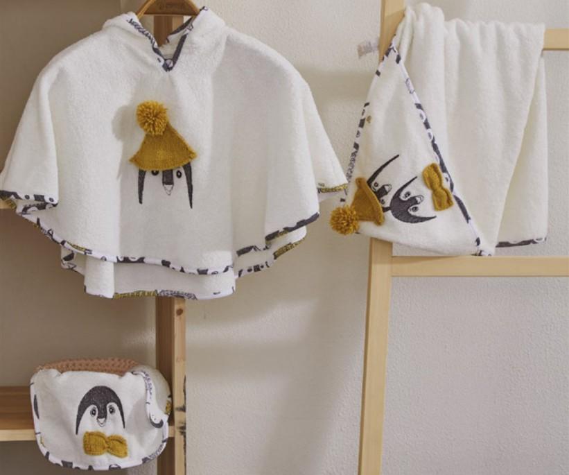 Organik Pamuk 4 Parça Panço Seti Pingu ecocotton