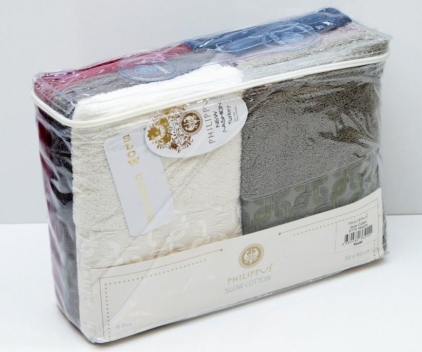 Махровые Банные Полотенца 70x140 см. 6 шт/уп. Slow Cotton E718 VESPIRA - PHILIPPUS