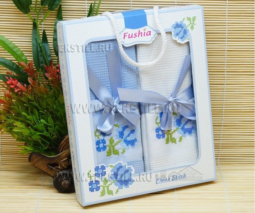 Кухонные Вафельные Полотенца Салфетки 45x70 см. 2 шт/уп. Saten - Fushia