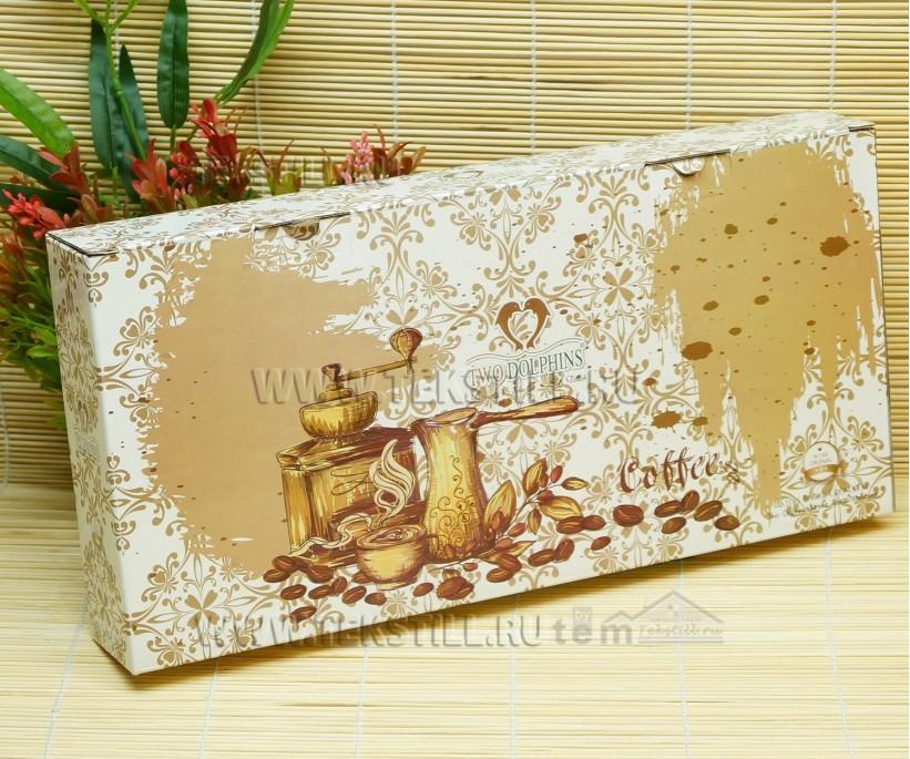 Махровые Полотенца 30x50 см. 6 шт./уп. Coffee TWO DOLPHINS