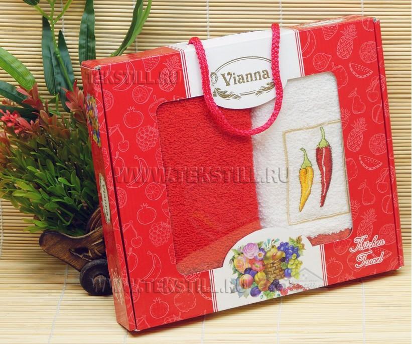 40x60 см. 2 шт./уп. Махровые Полотенца с Вышивкой Vianna